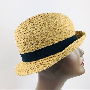 Chic Straw Hat with Black Band.